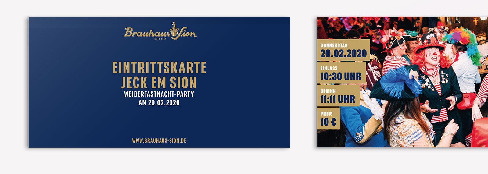 Brauhaus Sion Printmedien