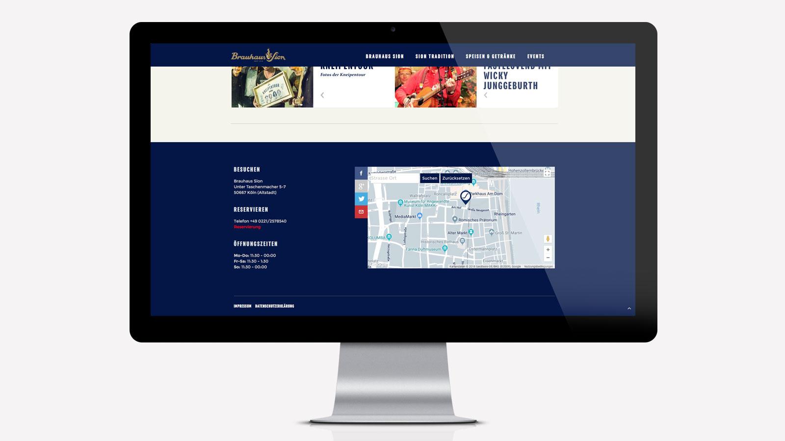 Kölner Brauhaus Webdesign