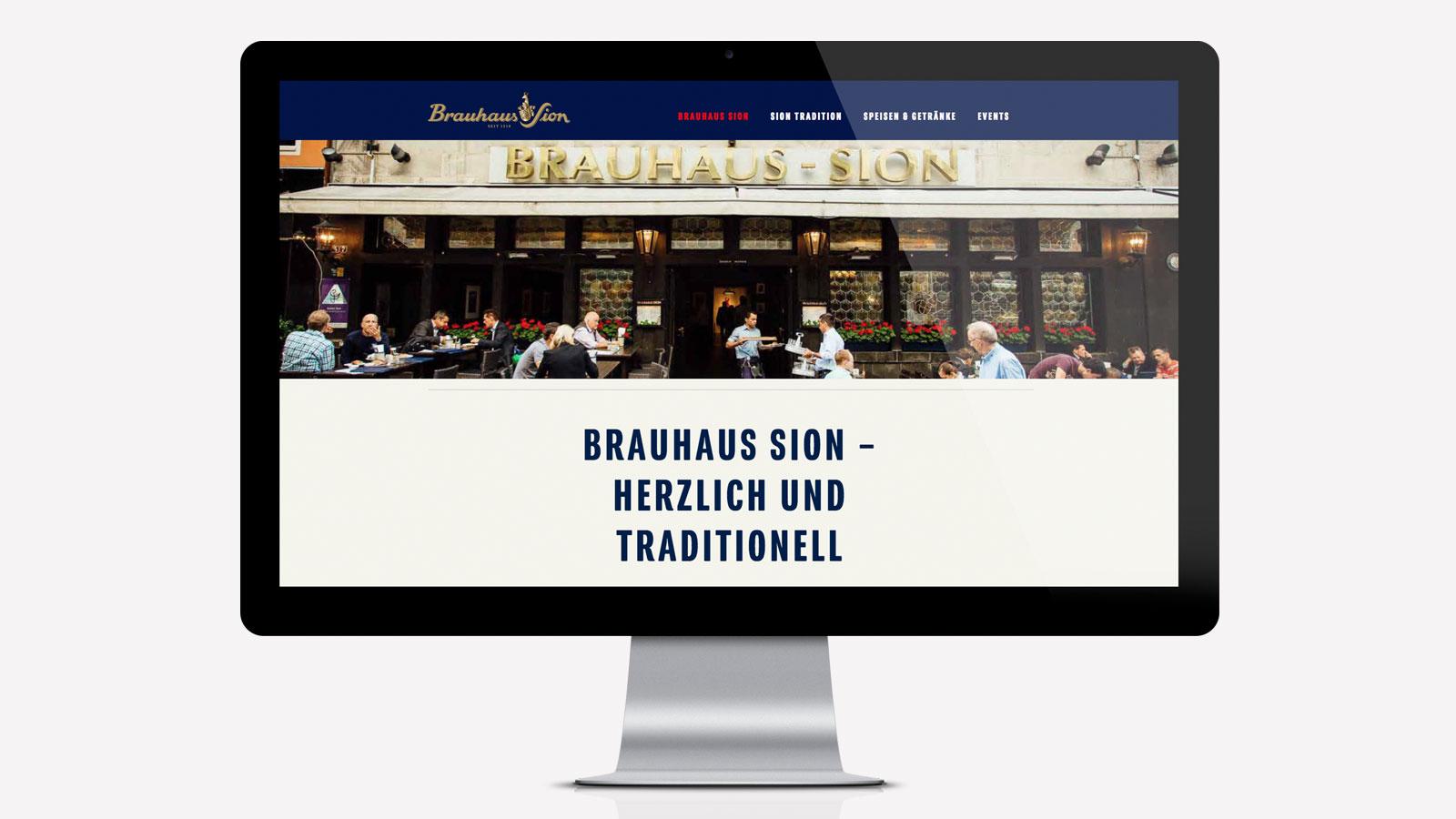 Brauhaus Sion Webdesign