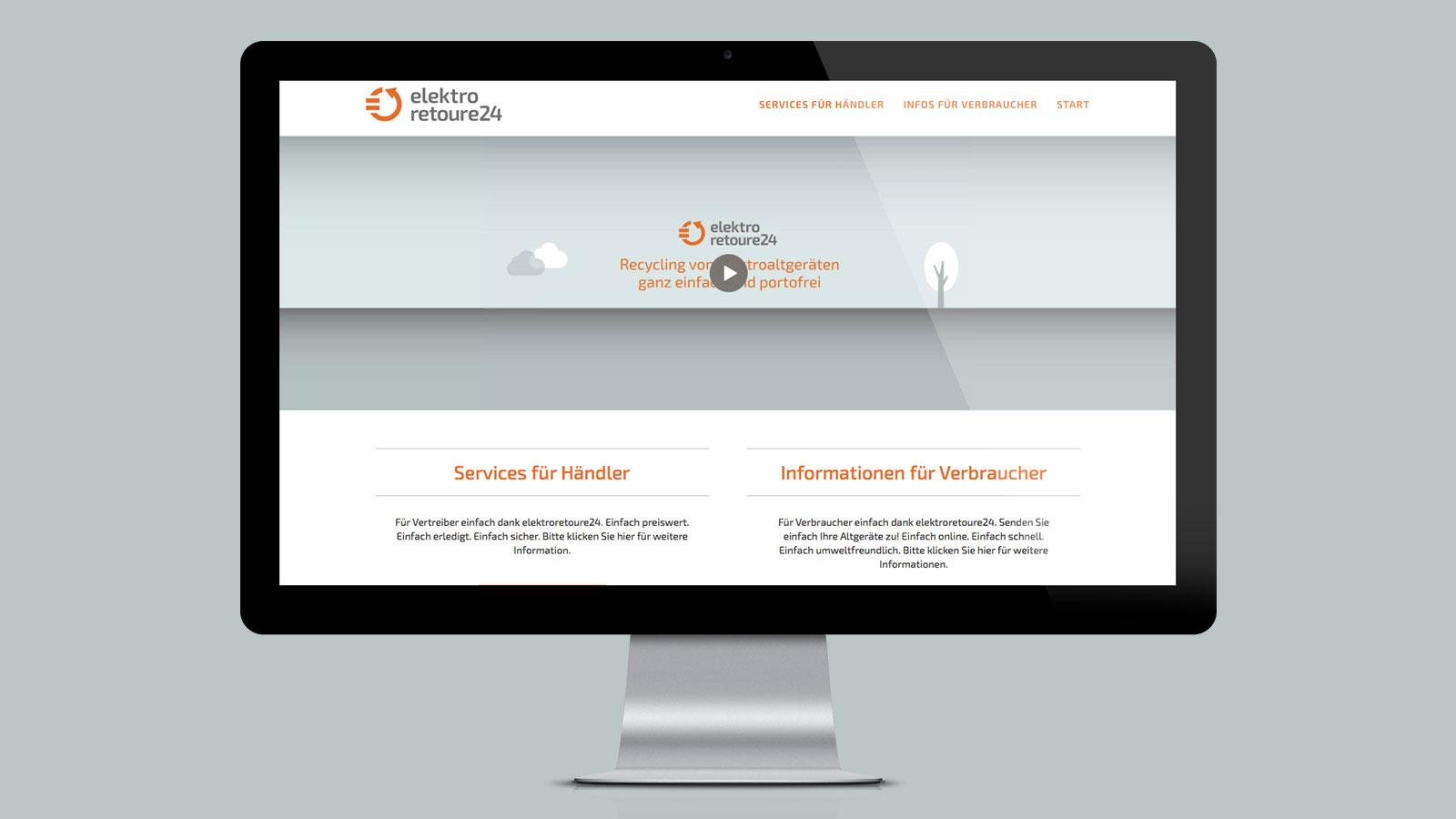 Elektro Retoure24 Webdesign