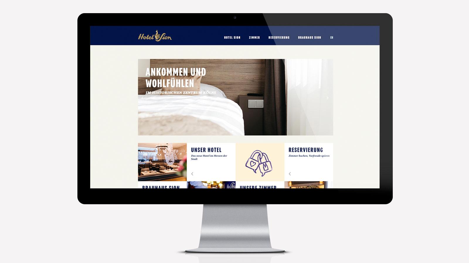 Website Kölner Hotel