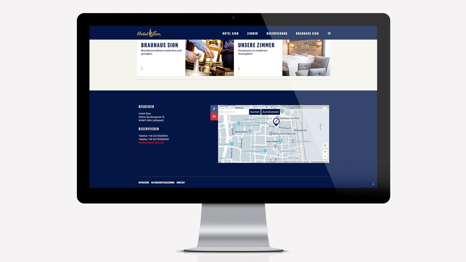 Hotel Köln Webdesign
