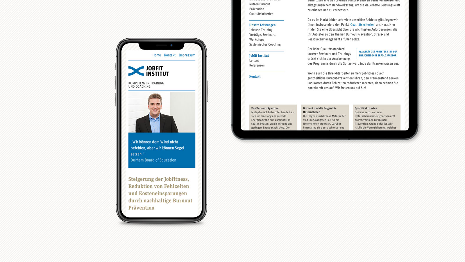 Jobfit Institut Respornsive Webdesign
