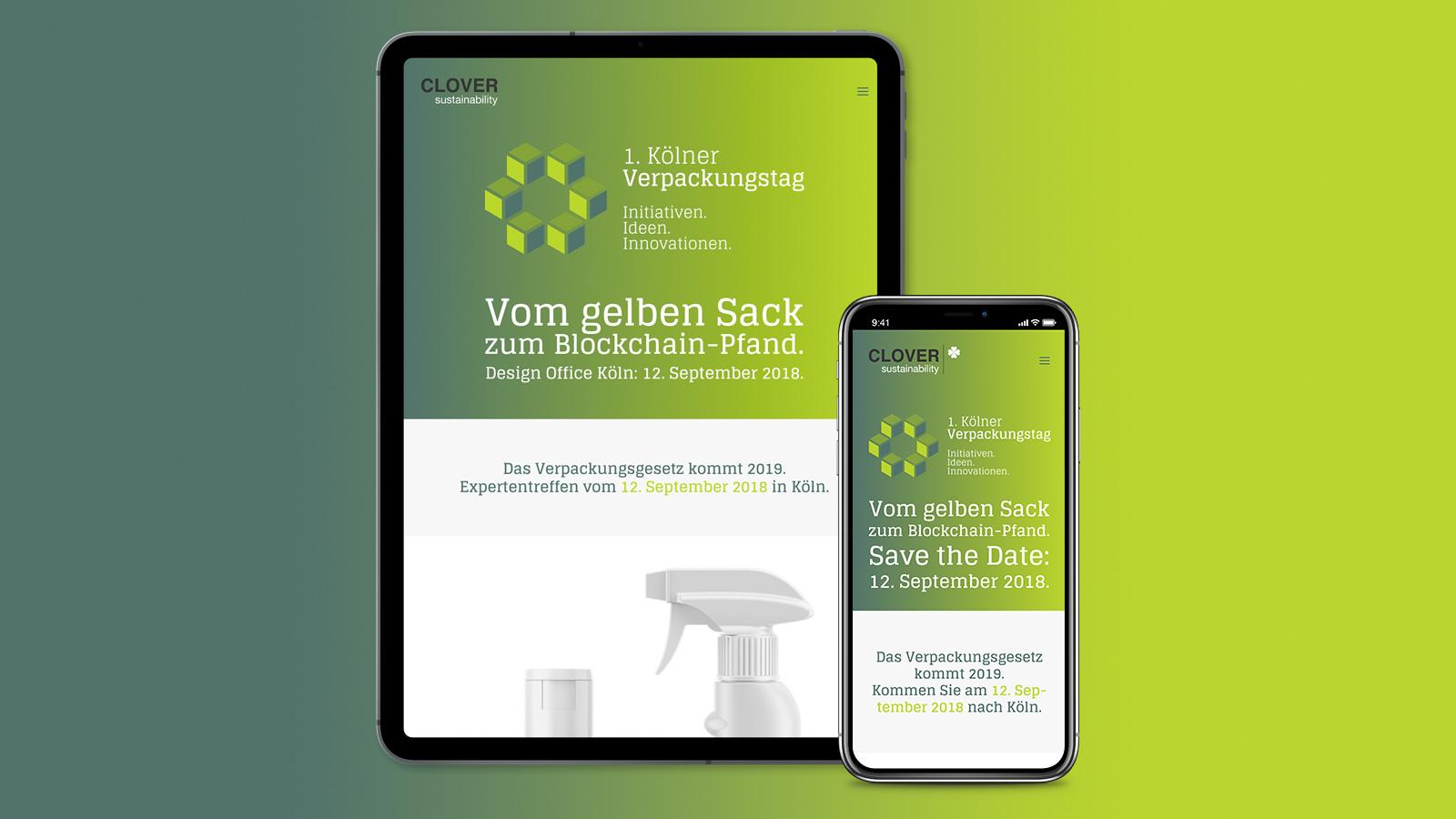 Responsive Webdesign für 1. Kölner Verpackungstag