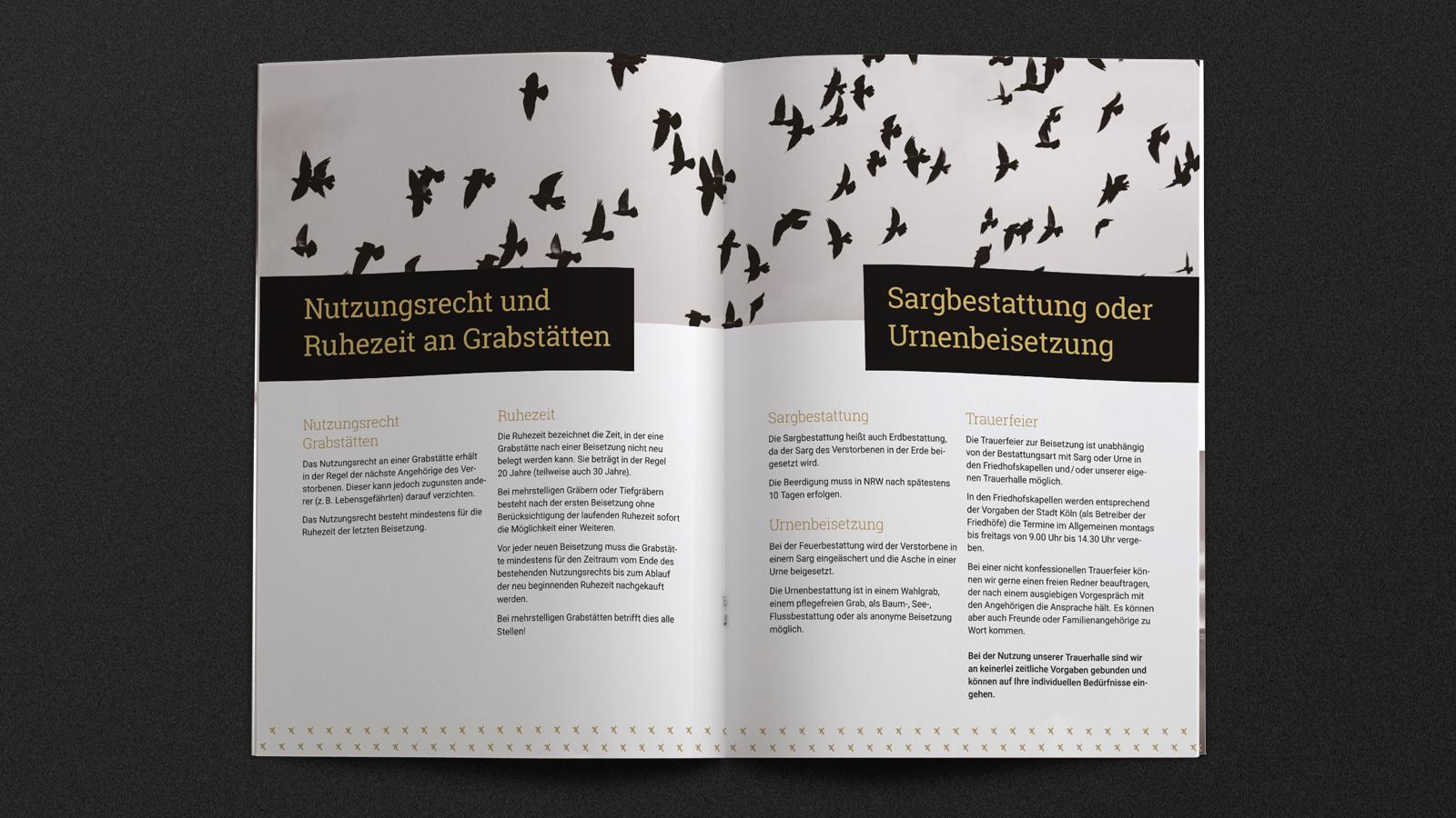 Broschüre Bestattungen Köln
