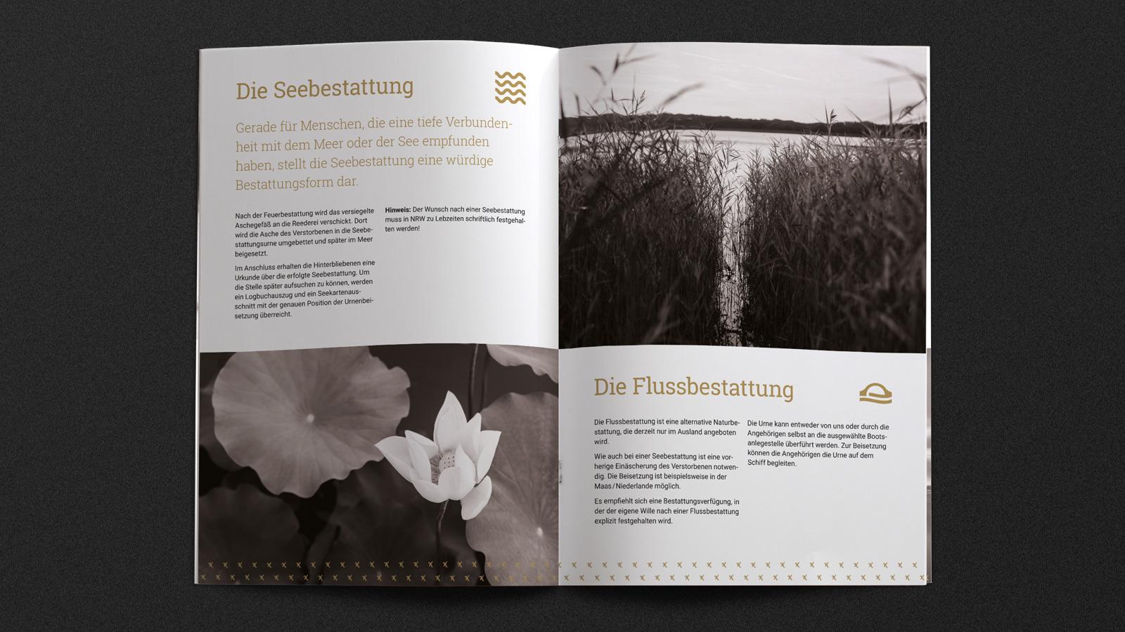Broschüre für Bestattungen Köln