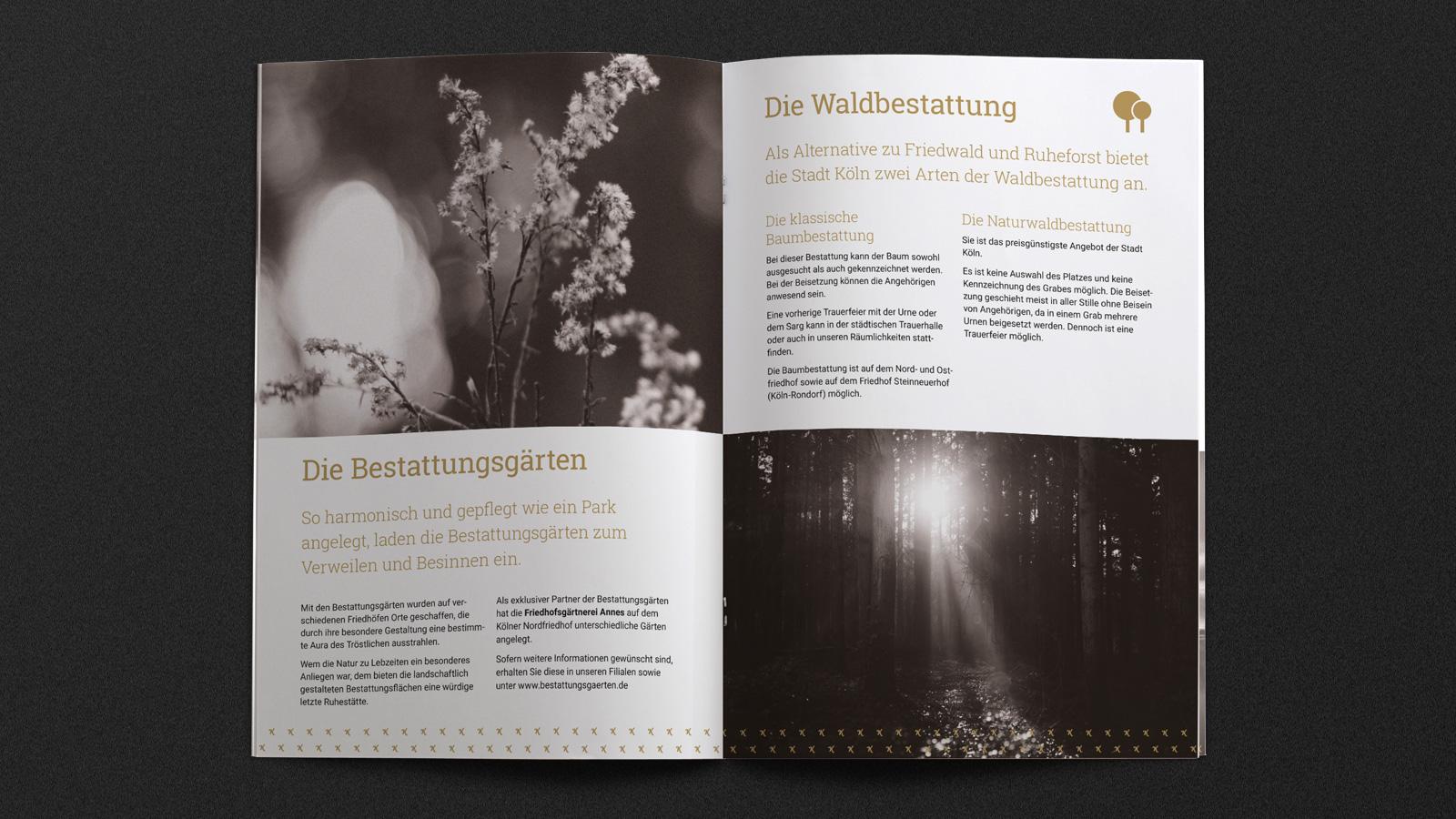 Image-Broschüre für Bestatter