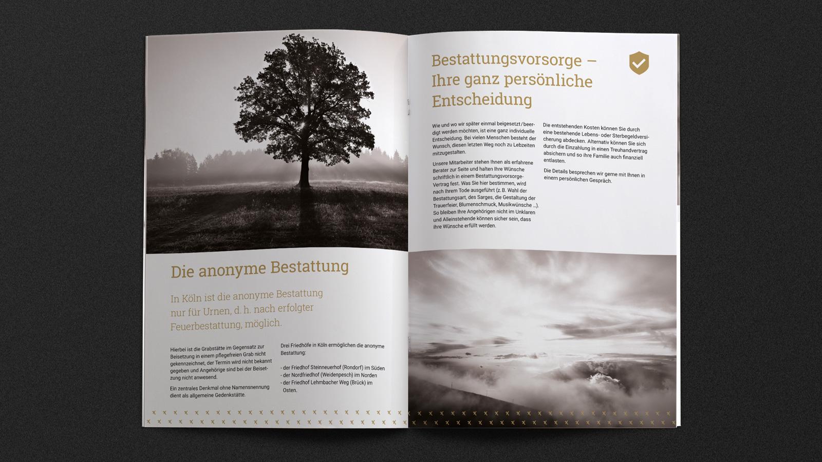 Broschüre für Bestatter in Köln