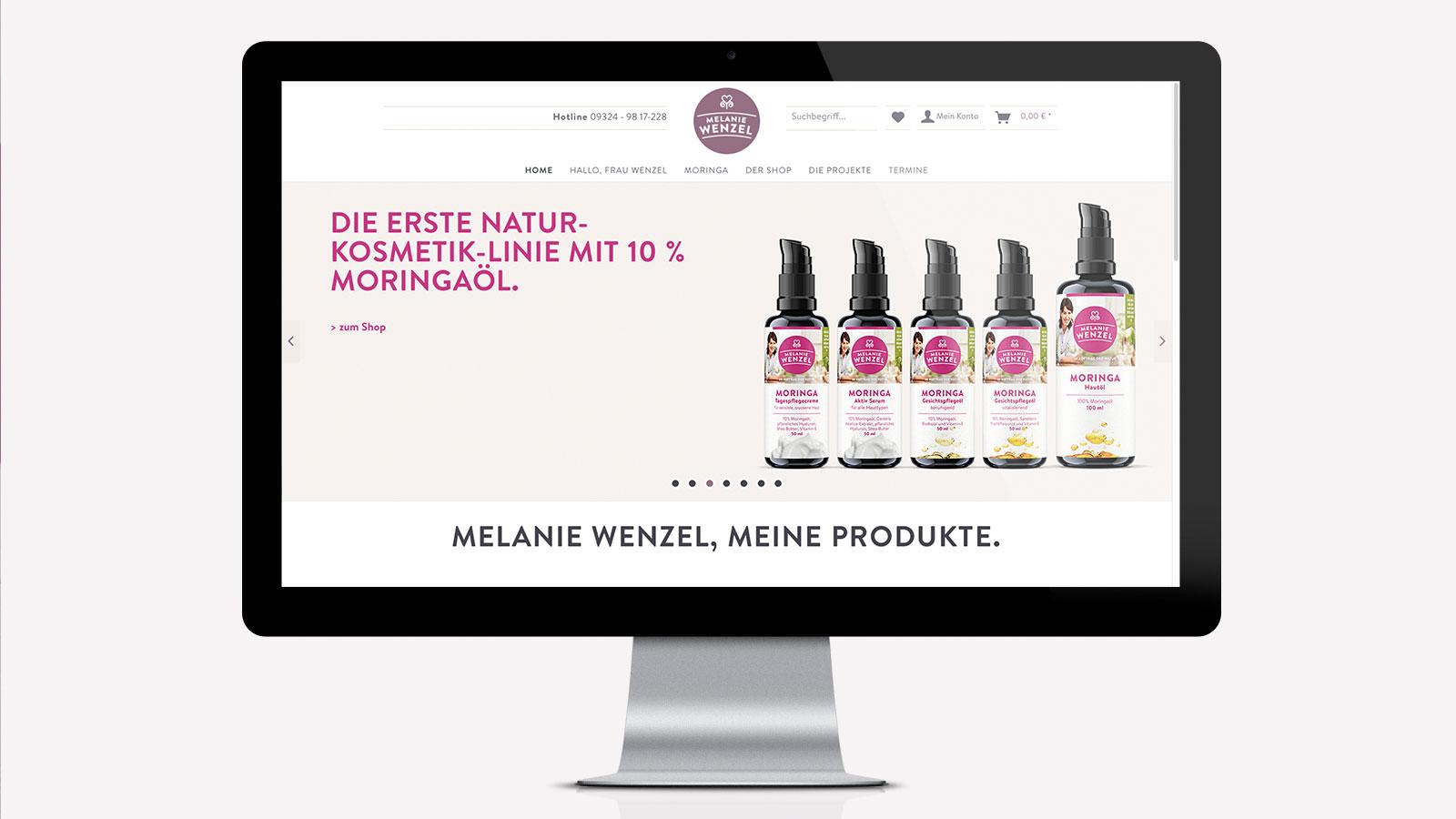 Shop-Design für Moringa-Produkte