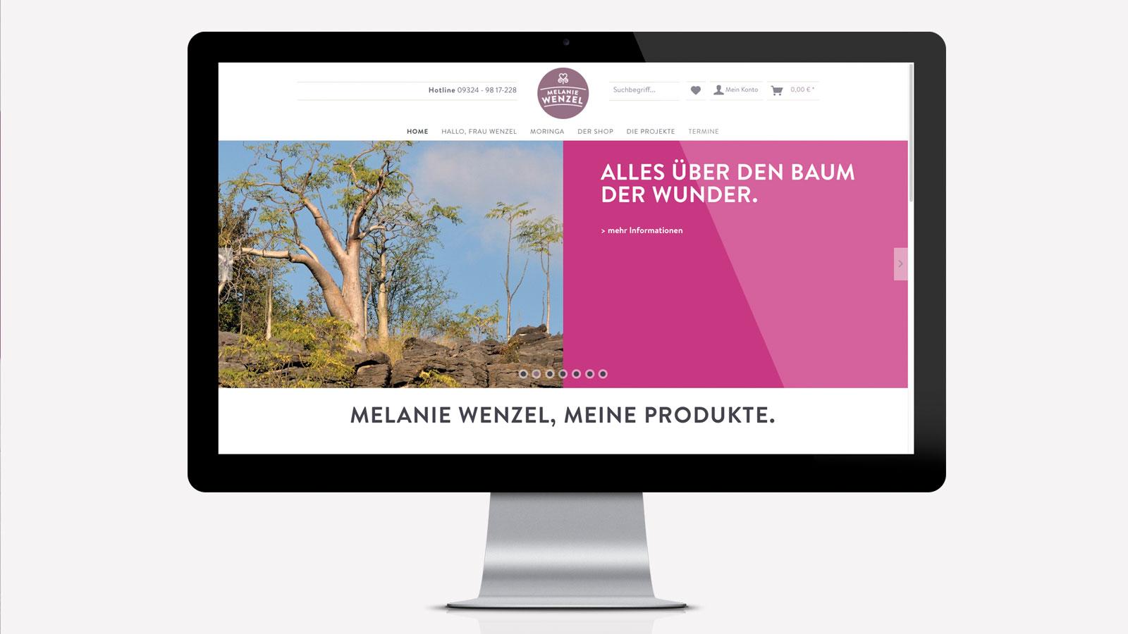 Shop-Design für Naturprodukte