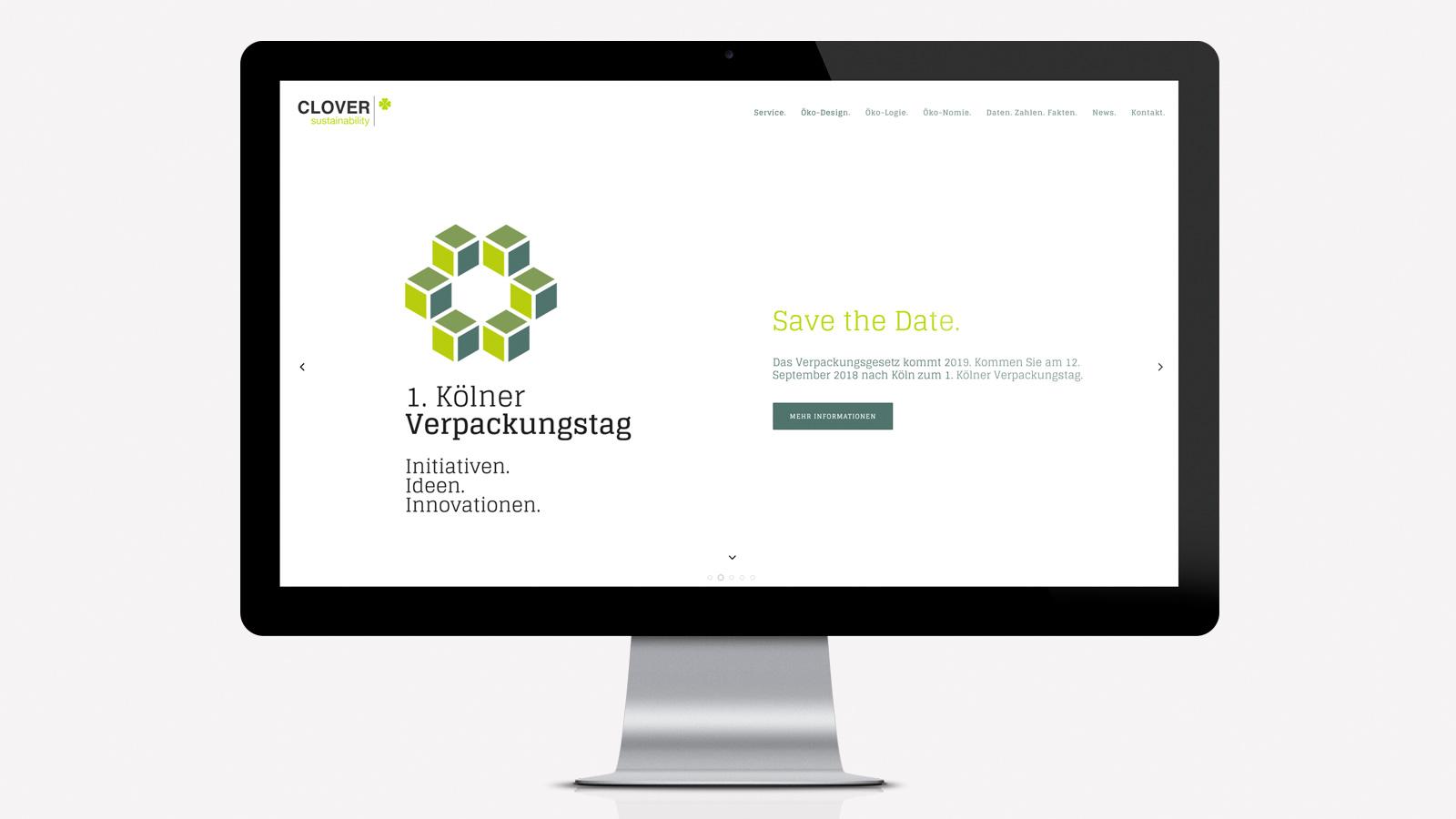 Öko Design Webseite