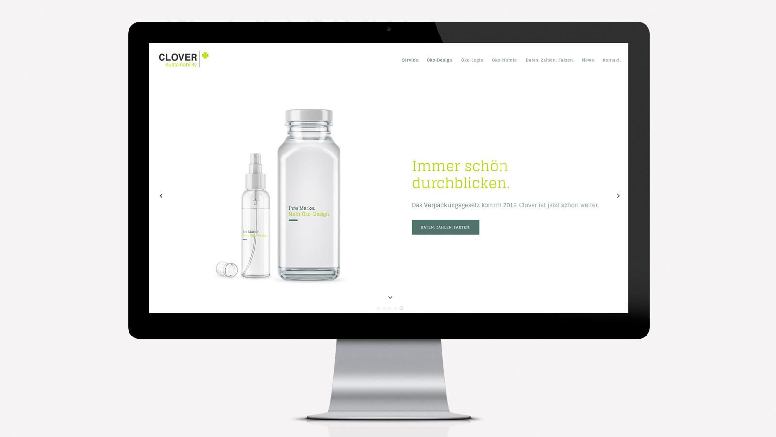 Website für Clover