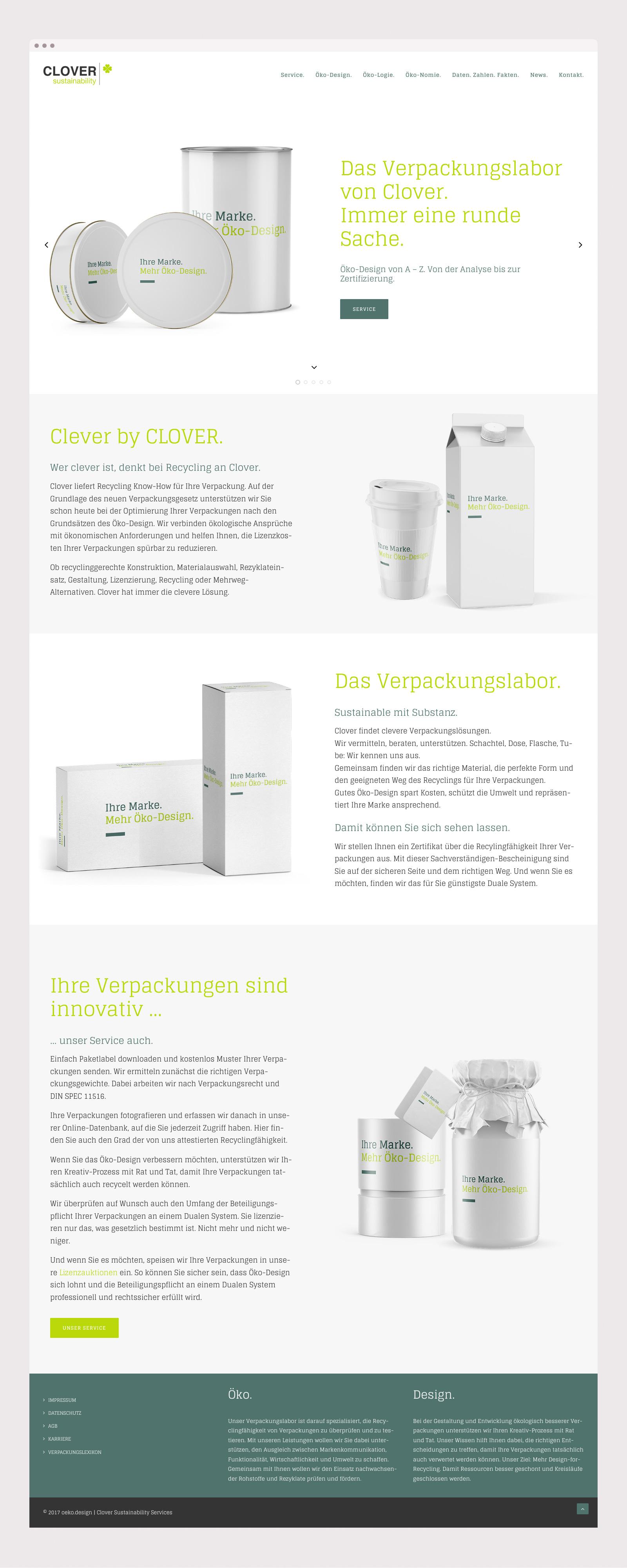 Responsive Webdesign für Oeko-Design