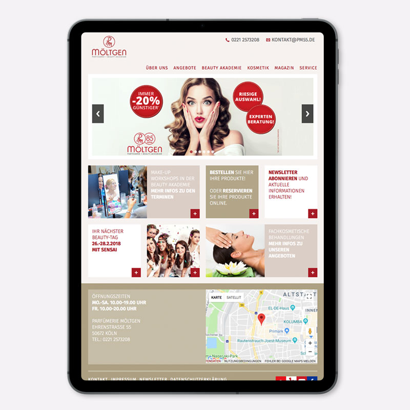 Responsive Webdesign für Parfümerie