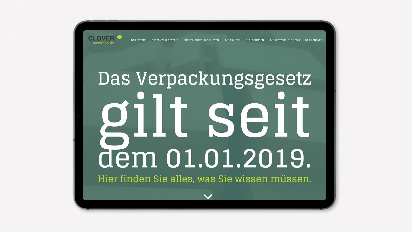 Responsive Webdesign für Verpackungsgesetz