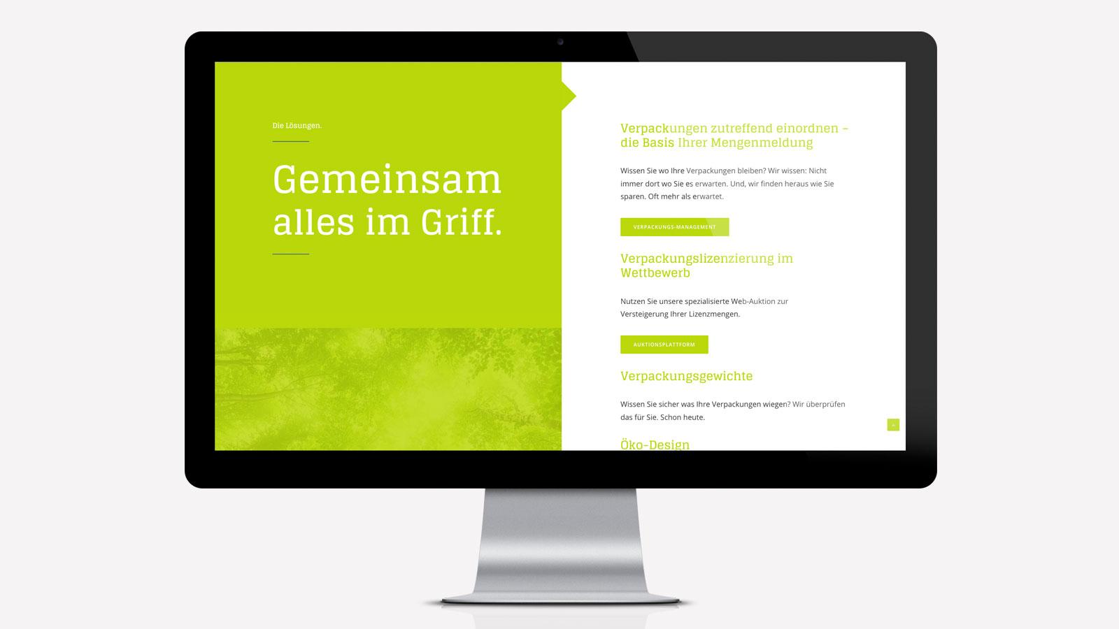 Webdesign für Nachhaltigkeit
