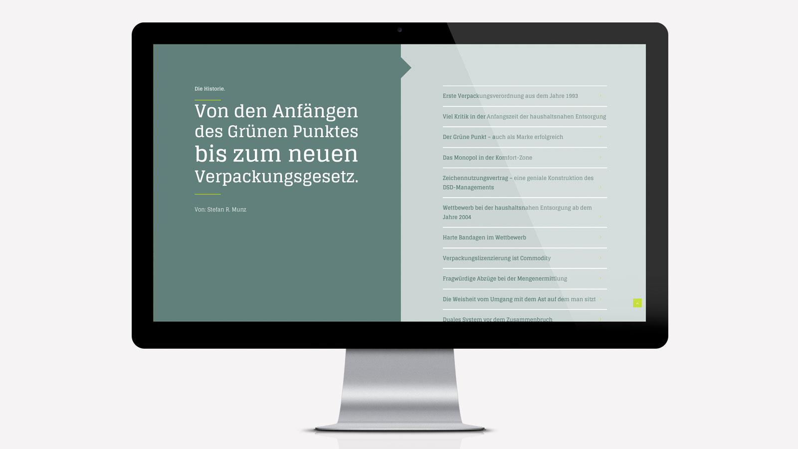 Web-Design Verpackungsgesetz