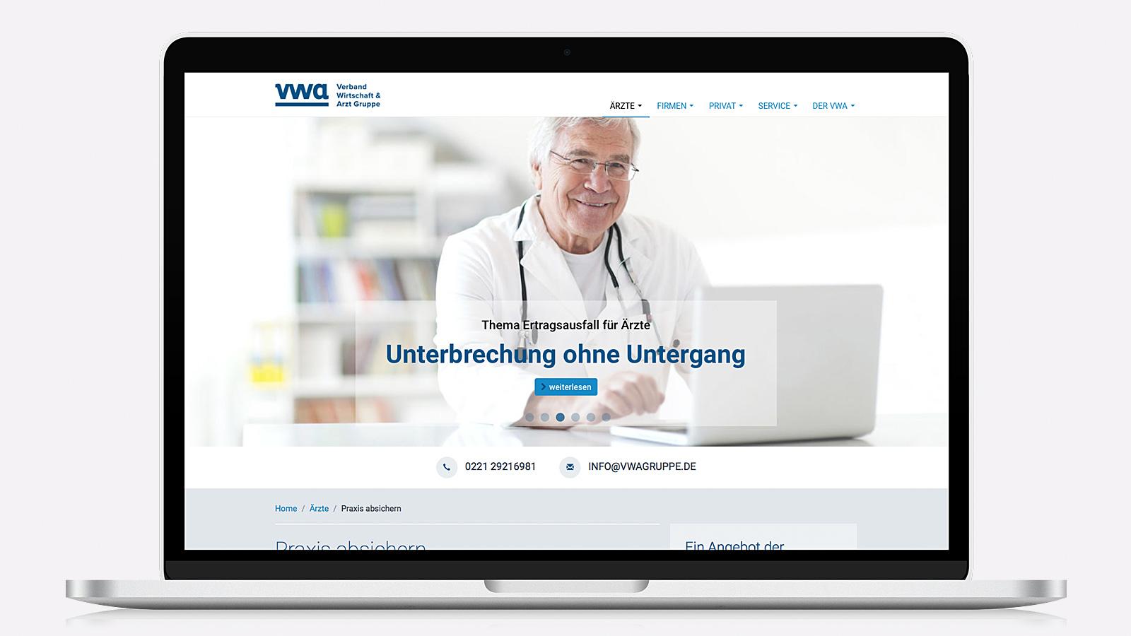 Webdesign für Ärzte-Verband