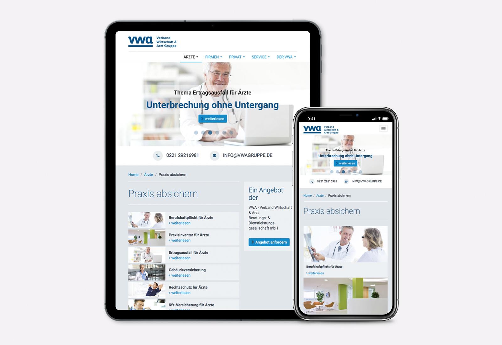 Responsive Webdesign für Verband