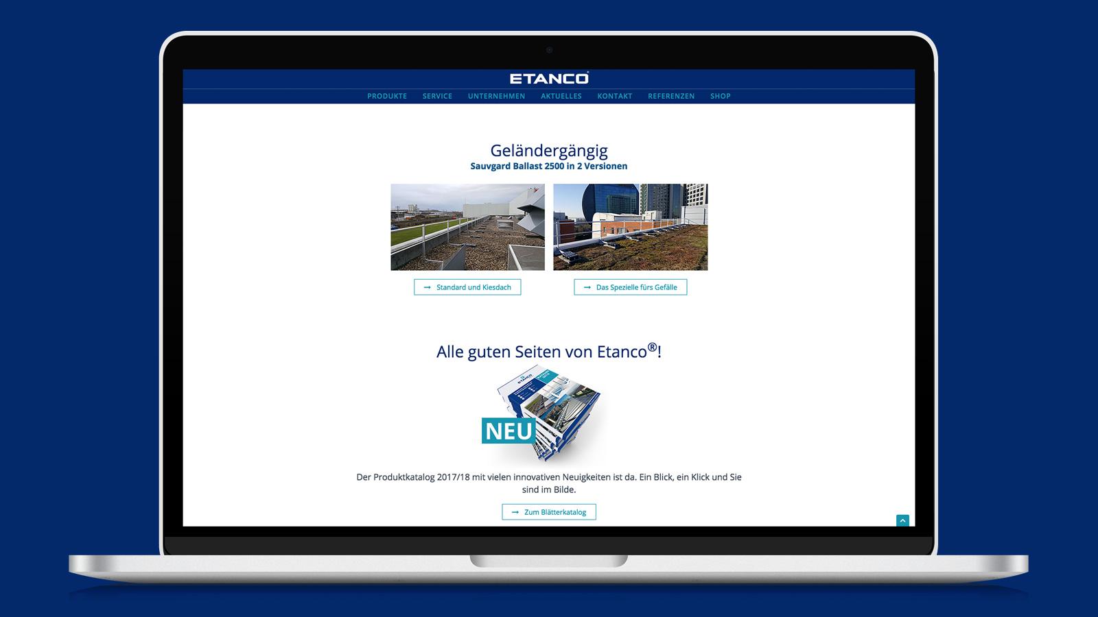 Webdesign Etanco