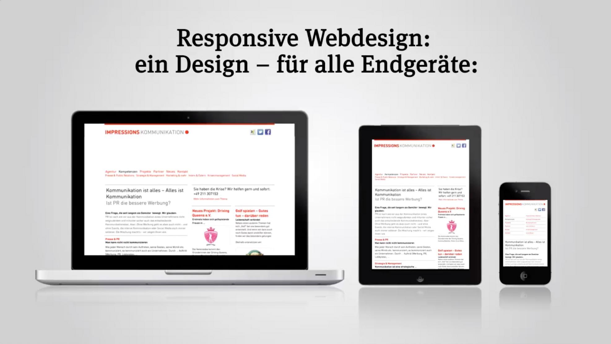 Erklärvideo Responsive Webdesign