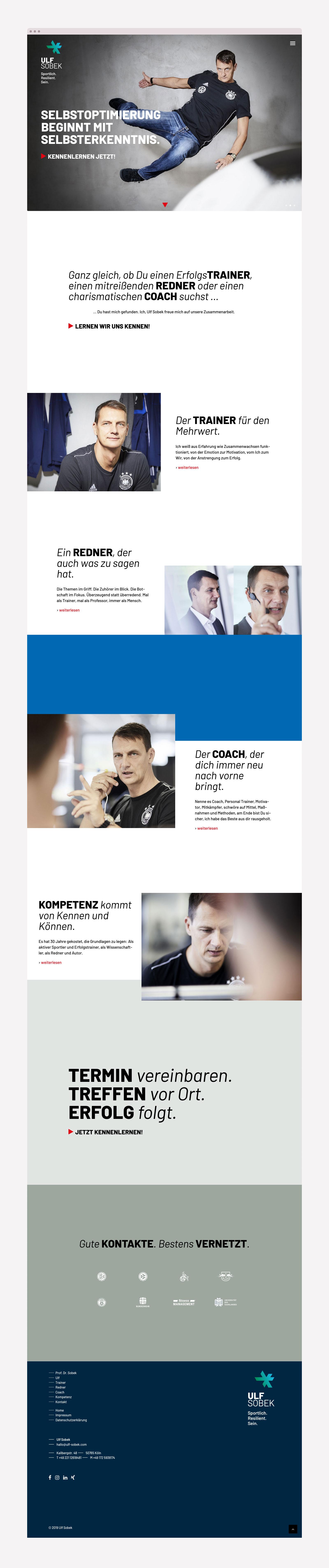 Webdesign für Trainer