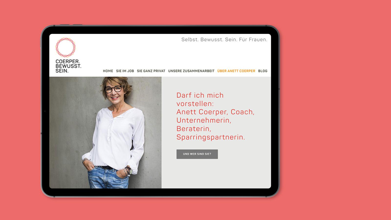 Coach Webdesign Tablet