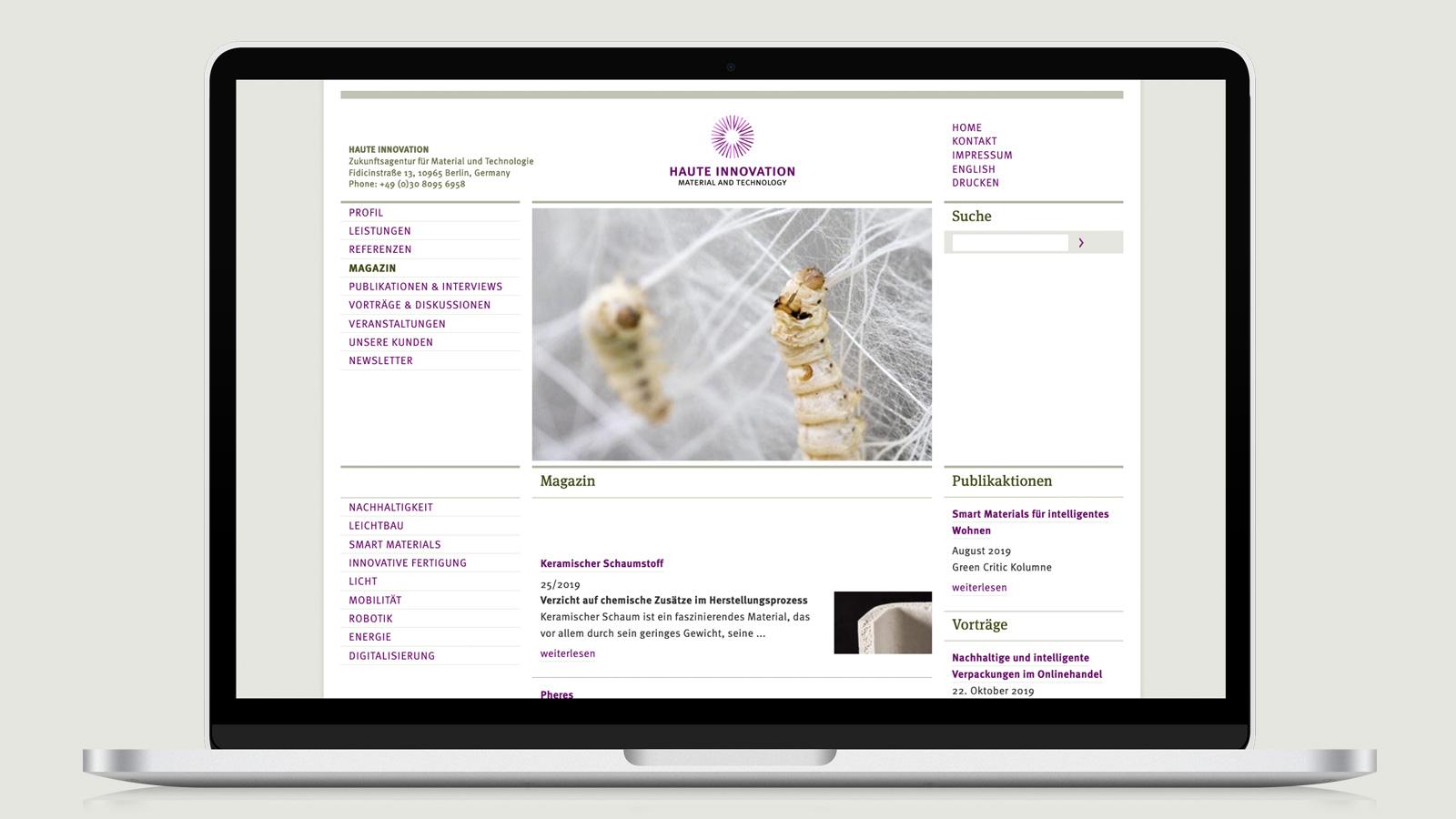 Haute Innovation Webdesign