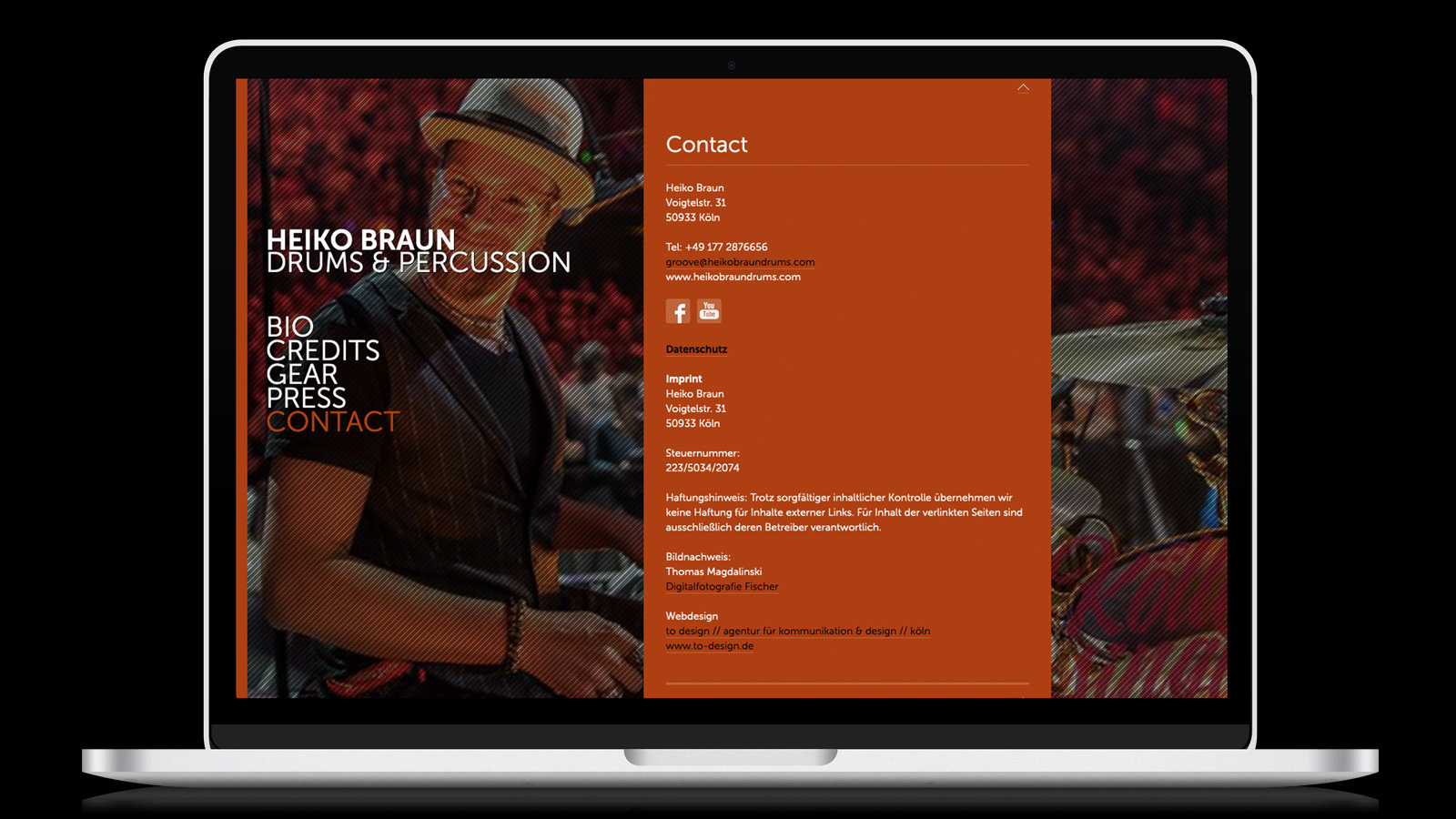 Heiko Braun Drums Webdesign