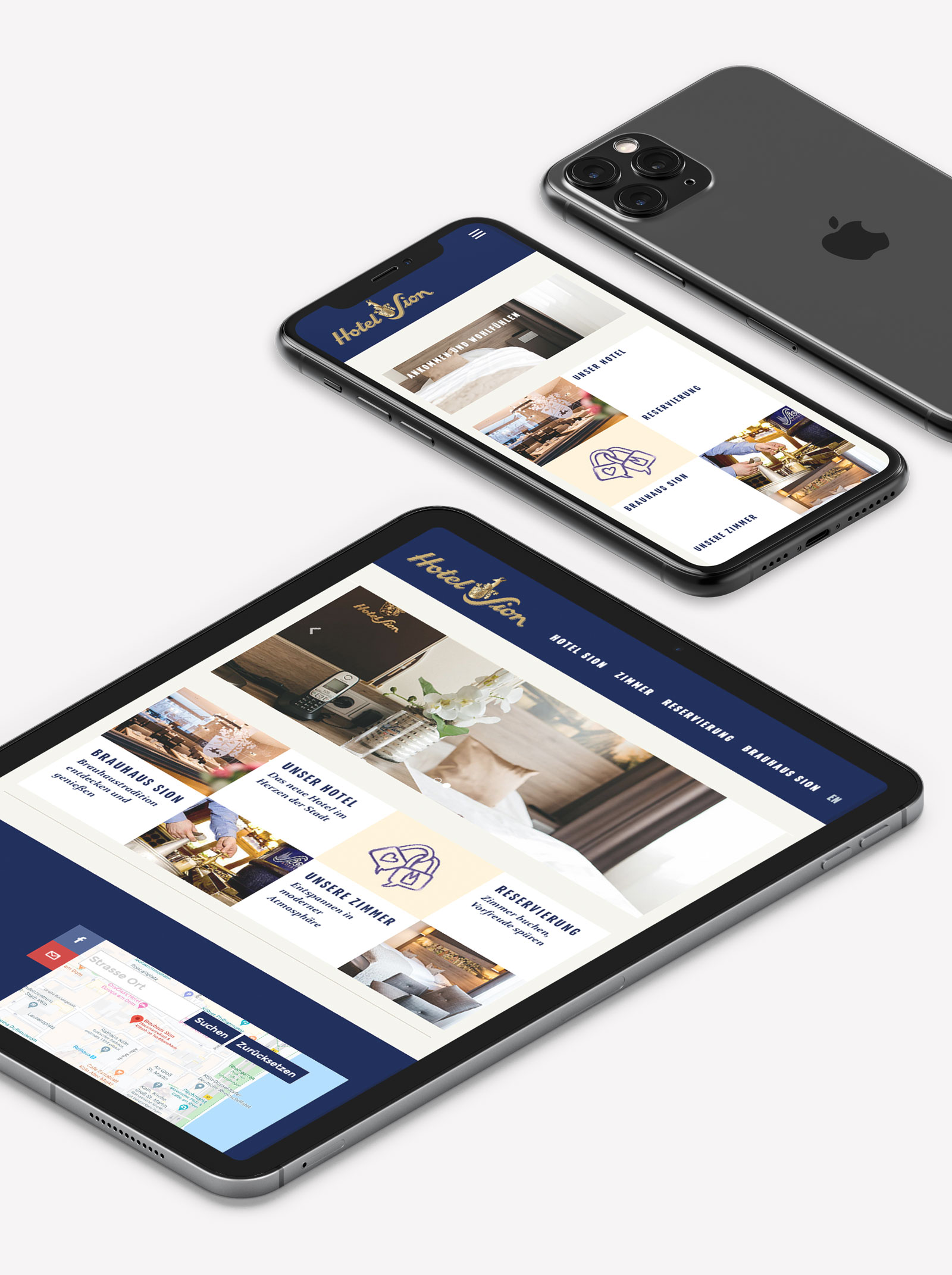 Hotel Mobile Webdesign