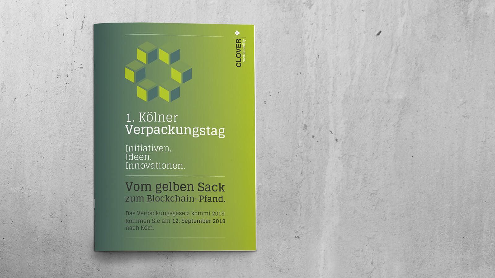 Programm-Heft für 1. Kölner Verpackungstag