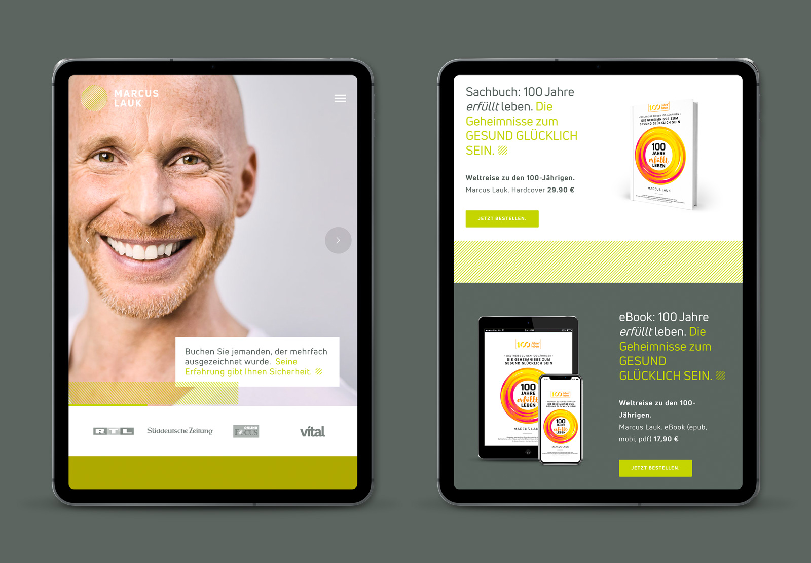 iPad Webdesign