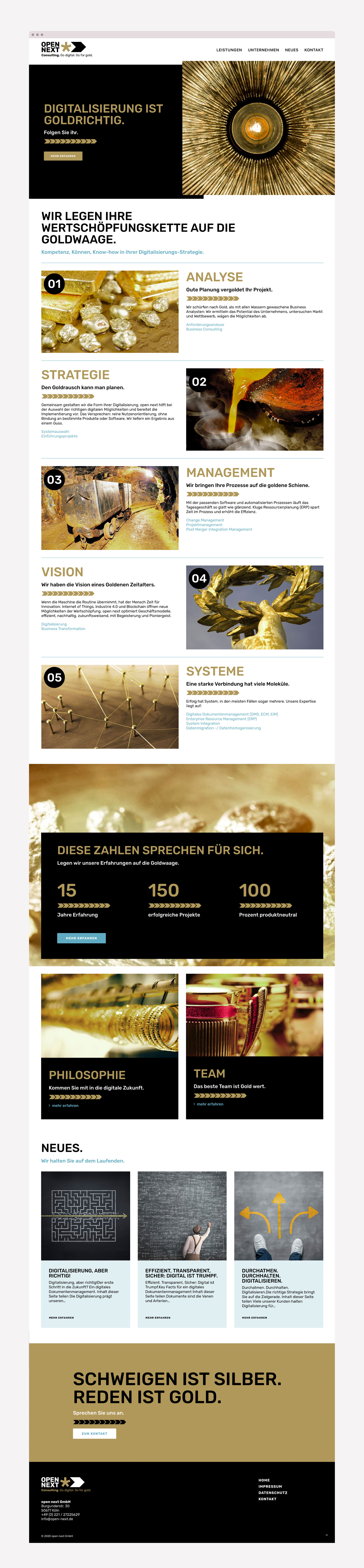 Webdesign für open next