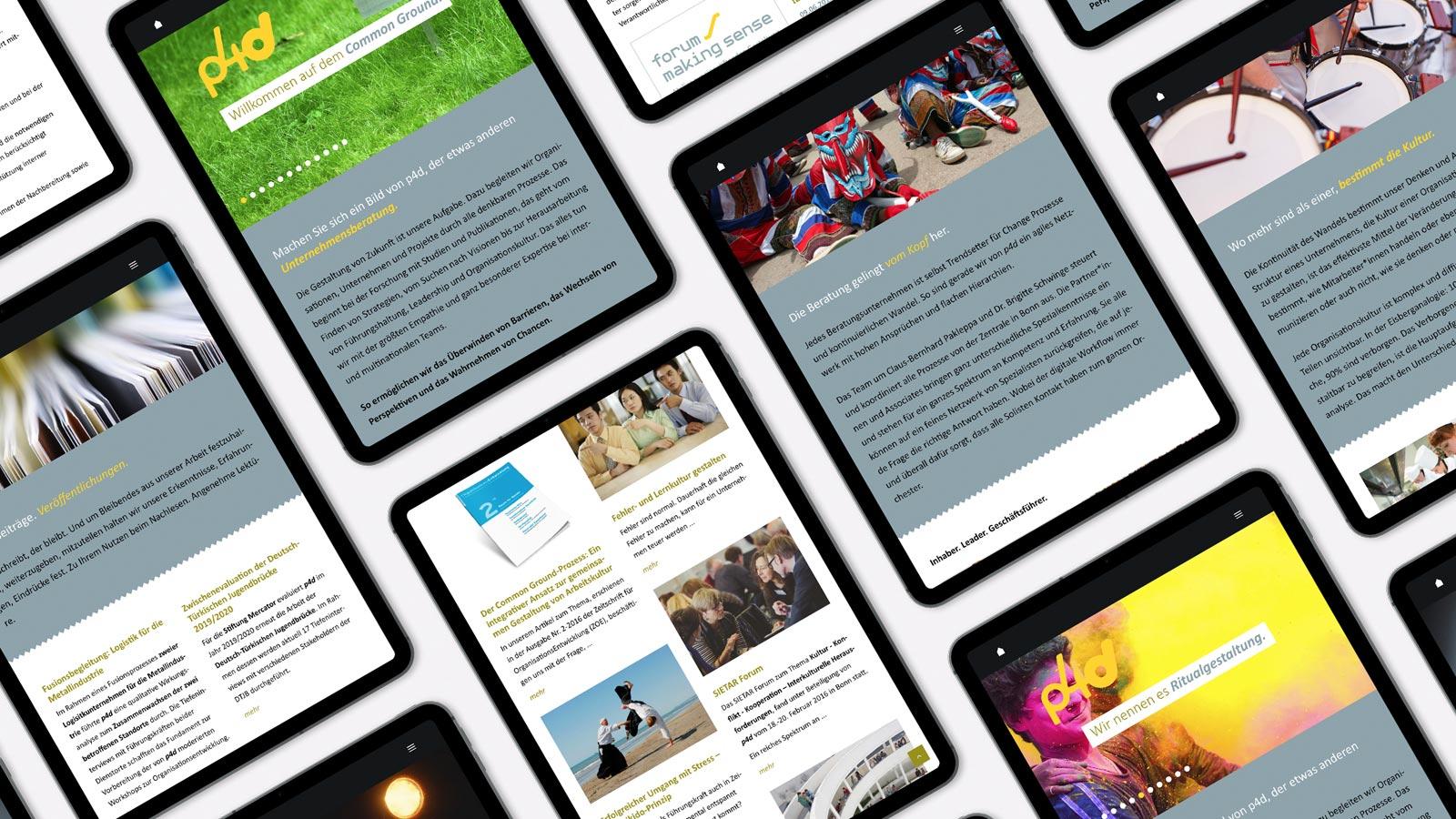 mobile Webdesign für p4d