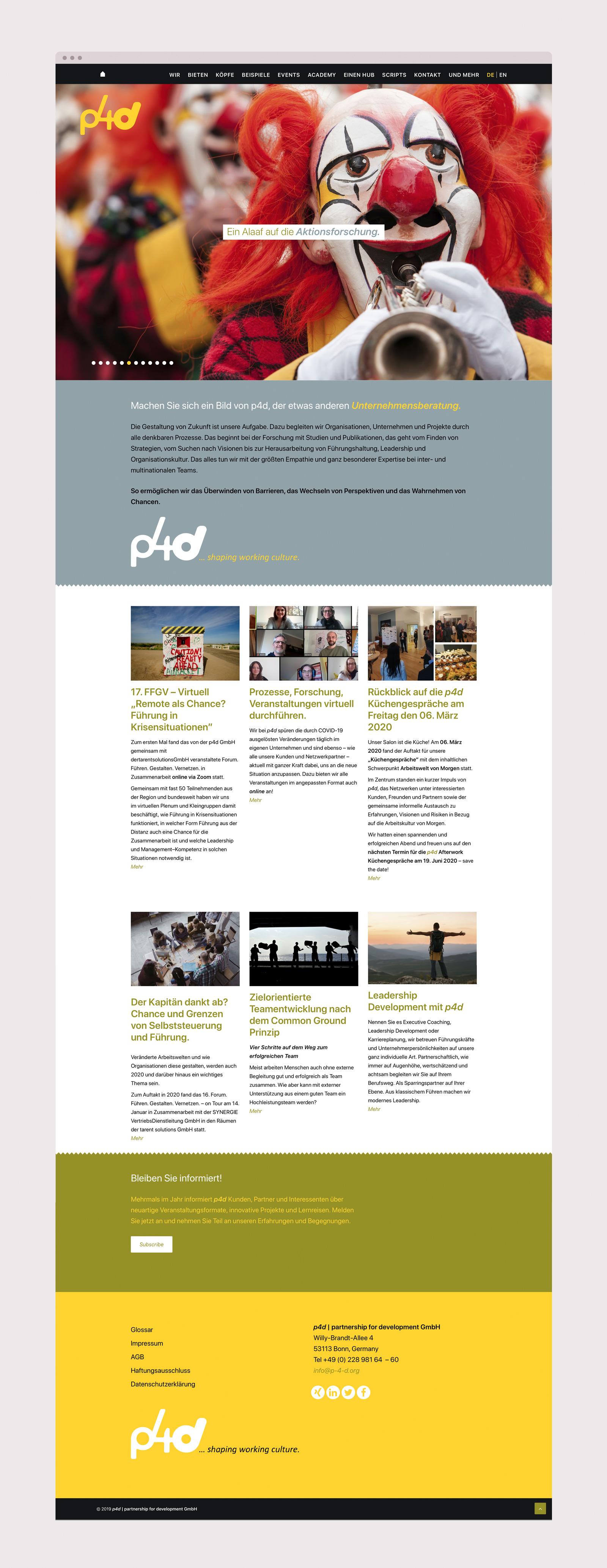 responsive Webdesign für Unternehmensberatung