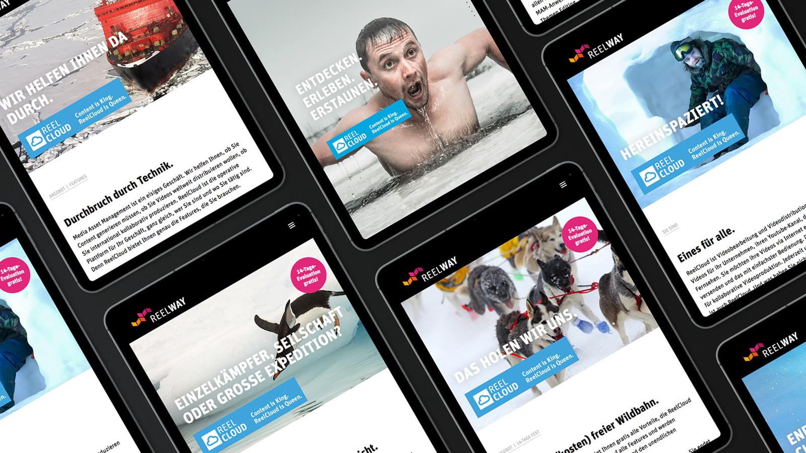 Reelway Webdesign iPad