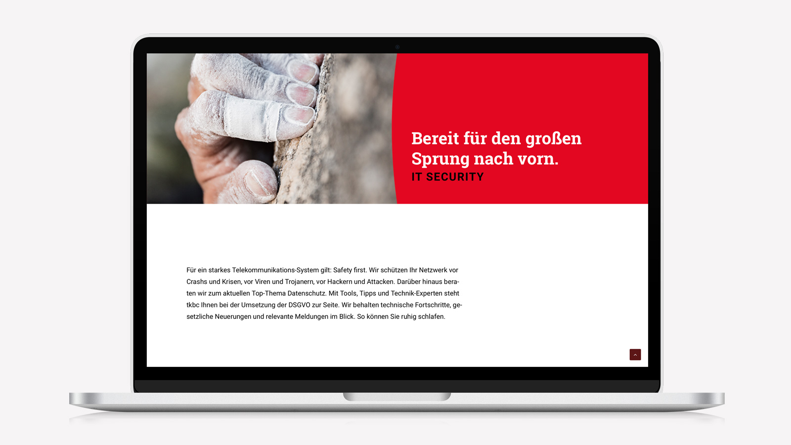 Responsive Webdesign für IT Security