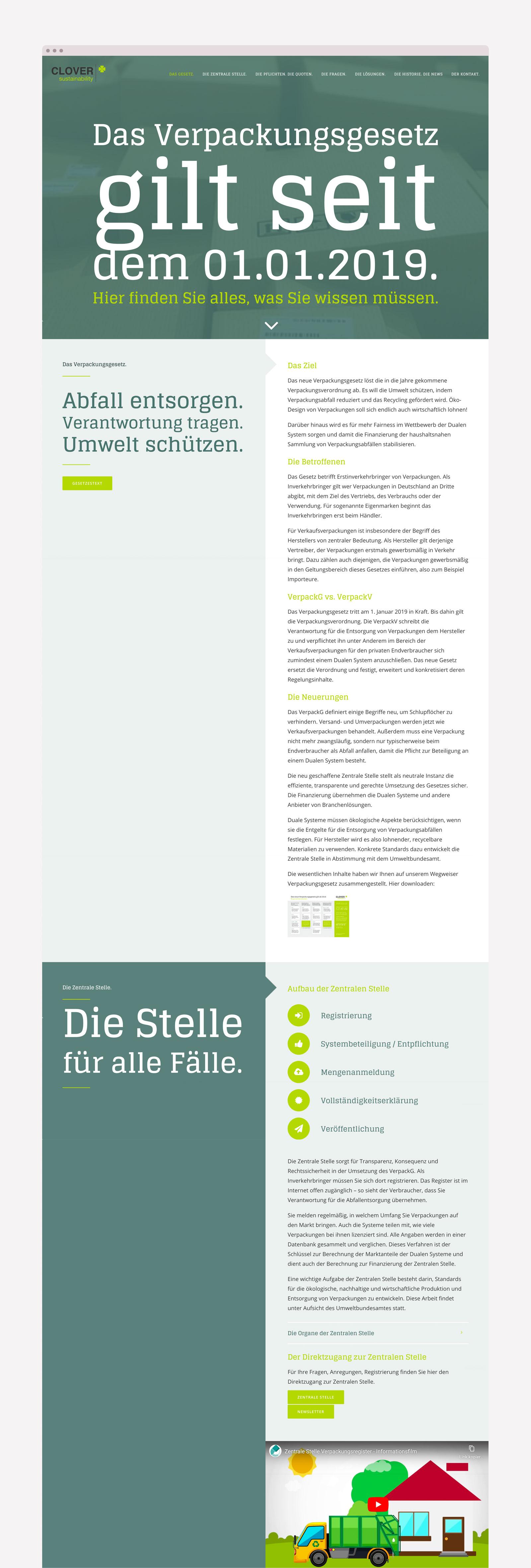Webdesign für Verpackungsgesetz