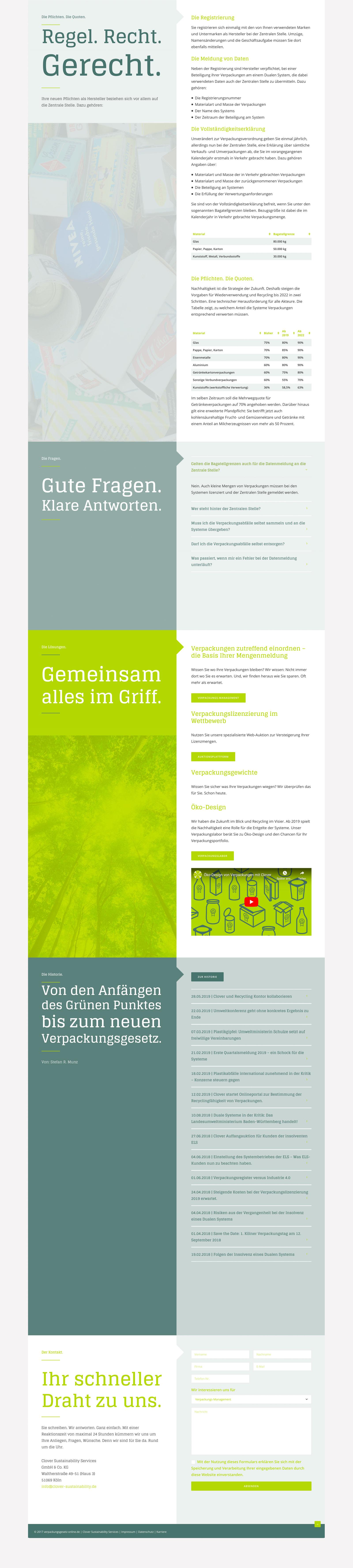 Webdesign für Verpackungsgesetz Online