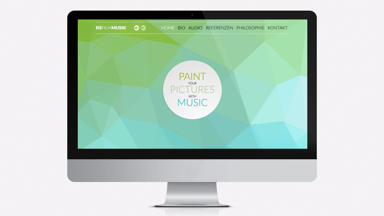 Webdesign für Musikkomponist