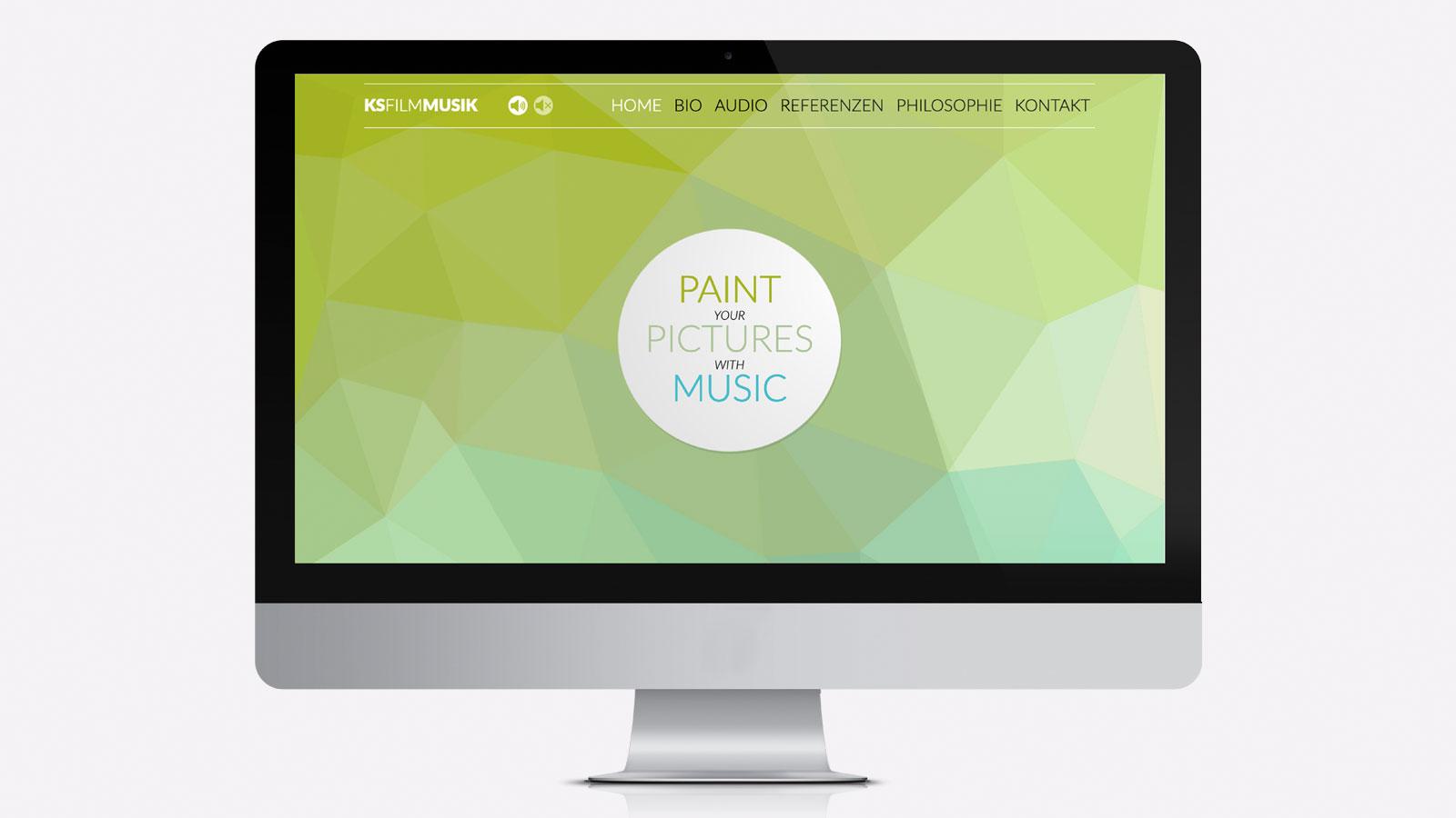 Webdesign für Filmkomponist