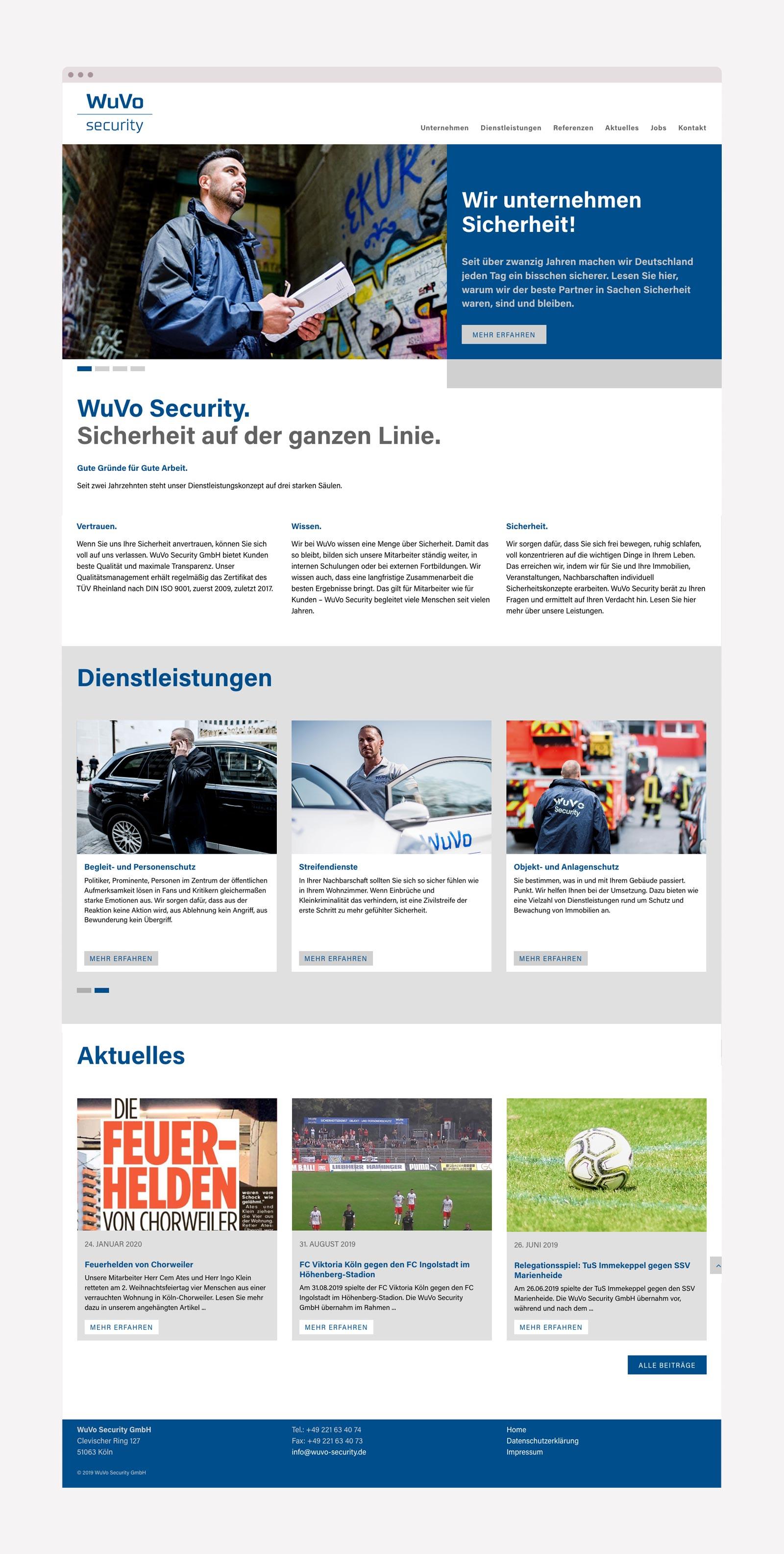 Responsive Webdesign für Sicherheitsdienstleister