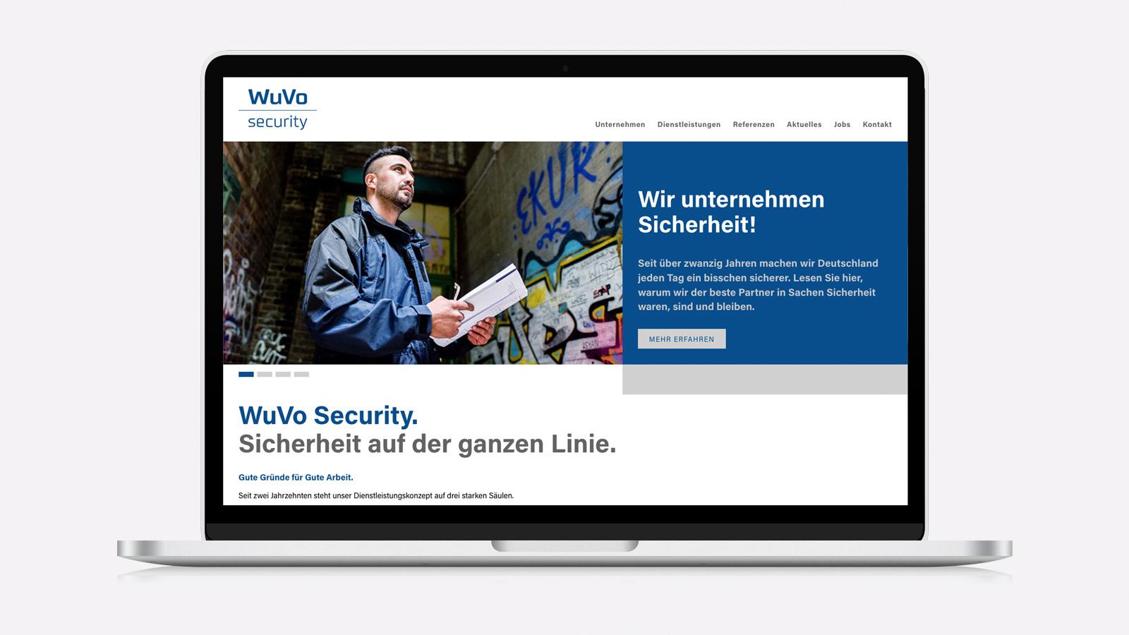 mobile Webdesign für WuVo Security