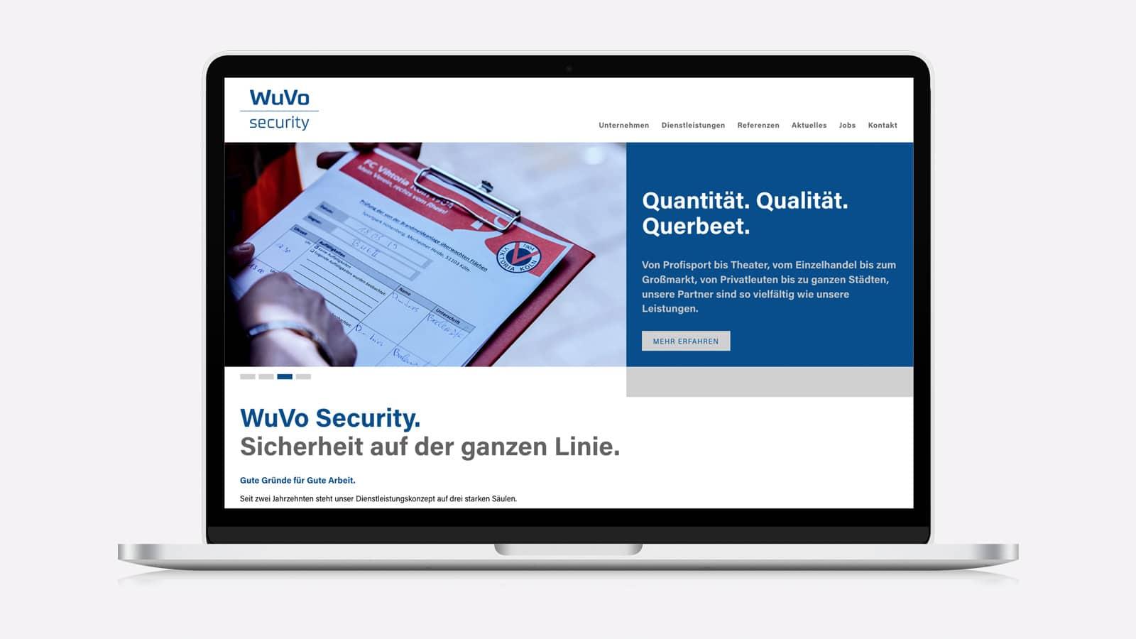 Website für WuVo Security