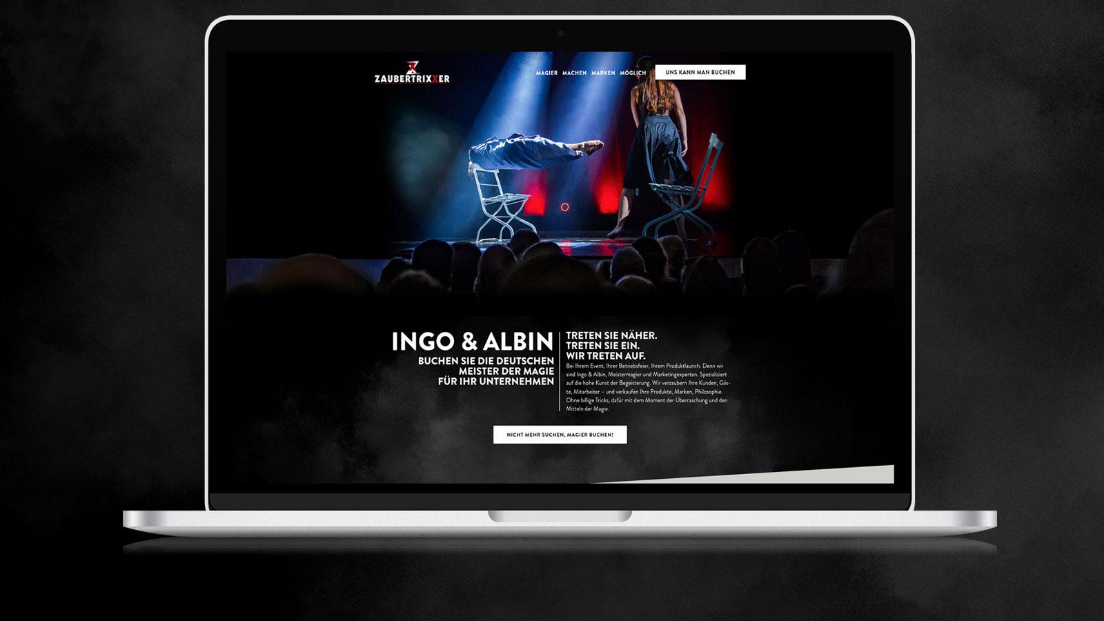 Webdesign für Business-Zauberer