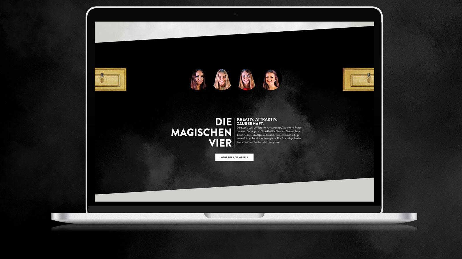 Wordpress-Seite für Zauberer