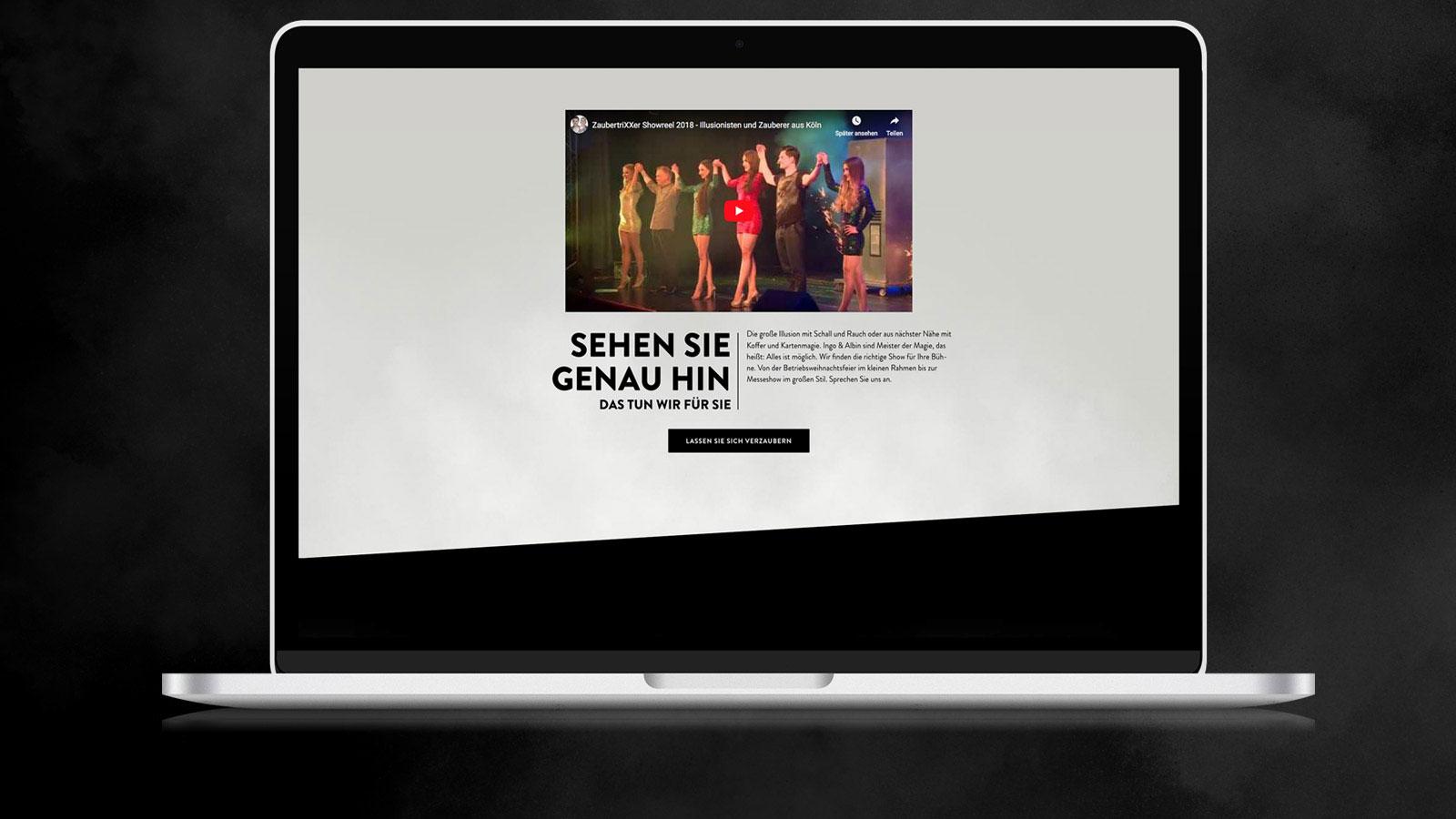 Webdesign für Zaubershows